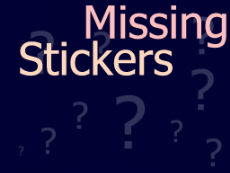 Galleries -> Missing Stickers